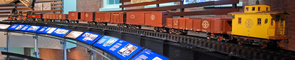 Walt Disney's Carolwood Pacific Railroad, scale model railroad train from his Holmby Hills backyard.