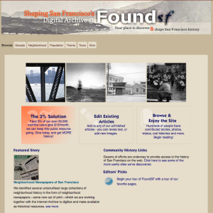 Foundsf.org—An entry point into San Francisco History